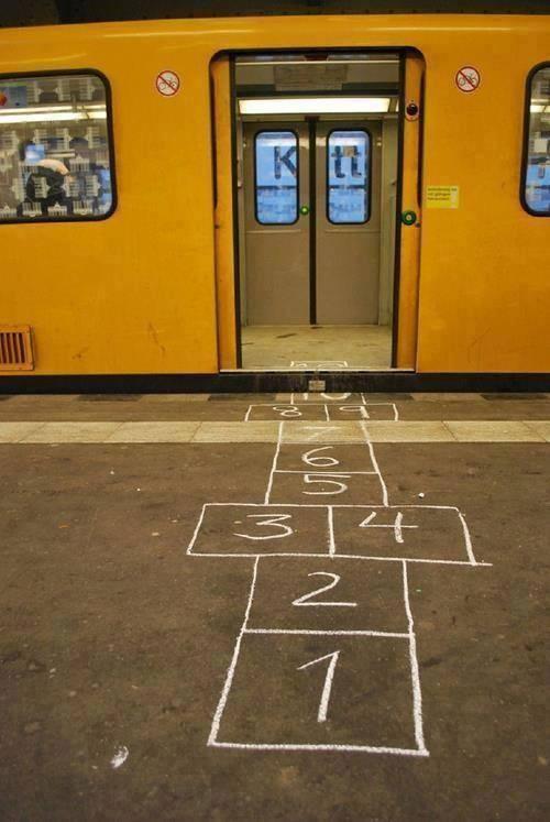Hinkelen naar de metro