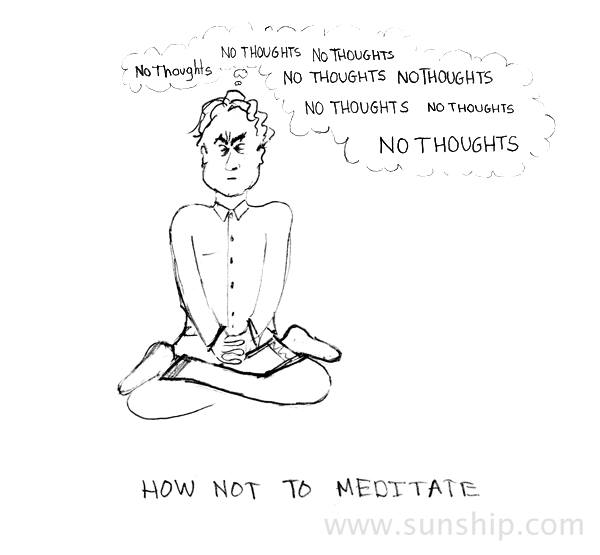 How not to meditate