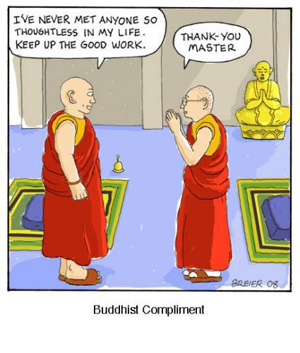 Buddhist compliment
