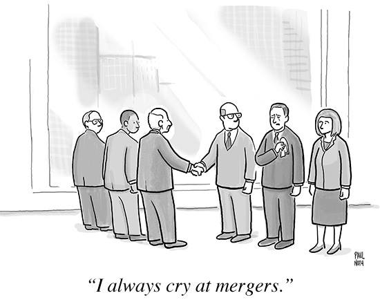 Crying at mergers